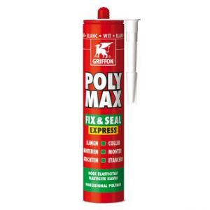 Griffon® Poly Max Fix & Seal Express montagekit, wit, koker à 425 gr *** Local Caption *** foto leverancier