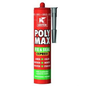 Poly Max® Fix & Seal Express montagekit, |grijs, koker à 425 gr *** Local Caption *** foto leverancier